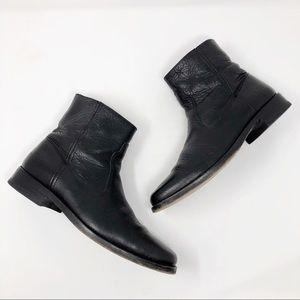 [Frye] Men's Black Leather Inside Zip Boots
